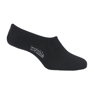 Womens Black Invisible Socks  [Size: 8 - 12]