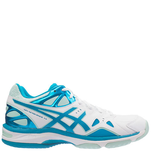 Gel Netburner 18 (D) [Colour: White/Blue Jewel/Soothing Sea] [Size: 11]