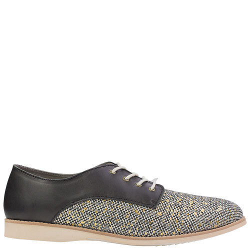 Derby Tweed [Colour: Black/Tweed] [Size: 42]