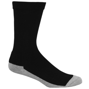 Mens Bamboo Black/Grey Charcoal Health Socks  [Size: 14 - 18]