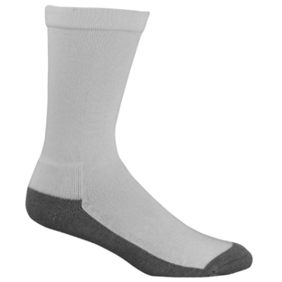 Mens Bamboo White/Grey Charcoal Health Socks [Size: 14 - 18]
