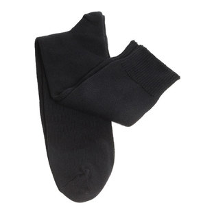 Mens Black Cotton Supersize Socks [Size: 17 - 21]