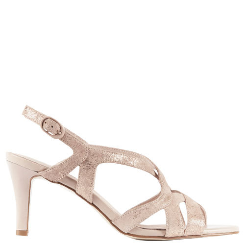 Oska [Colour: Blush Metallic] [Size: 10]